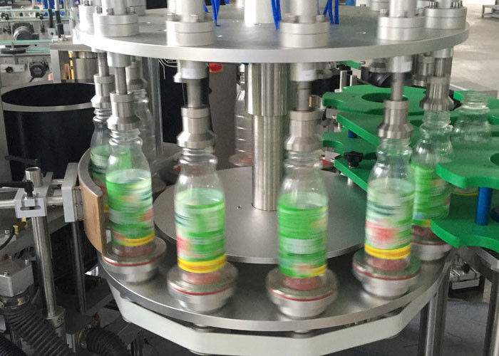 Hot Melt Opp ROPP Sticker Labeling Machines For Bottles , Label Applicator Equipment
