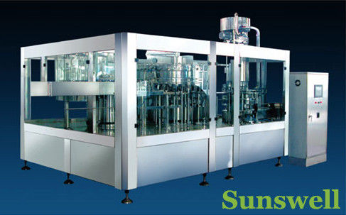 Stainless Steel Tea Filling Machine , Semi-Automatic Liquid Filling Line