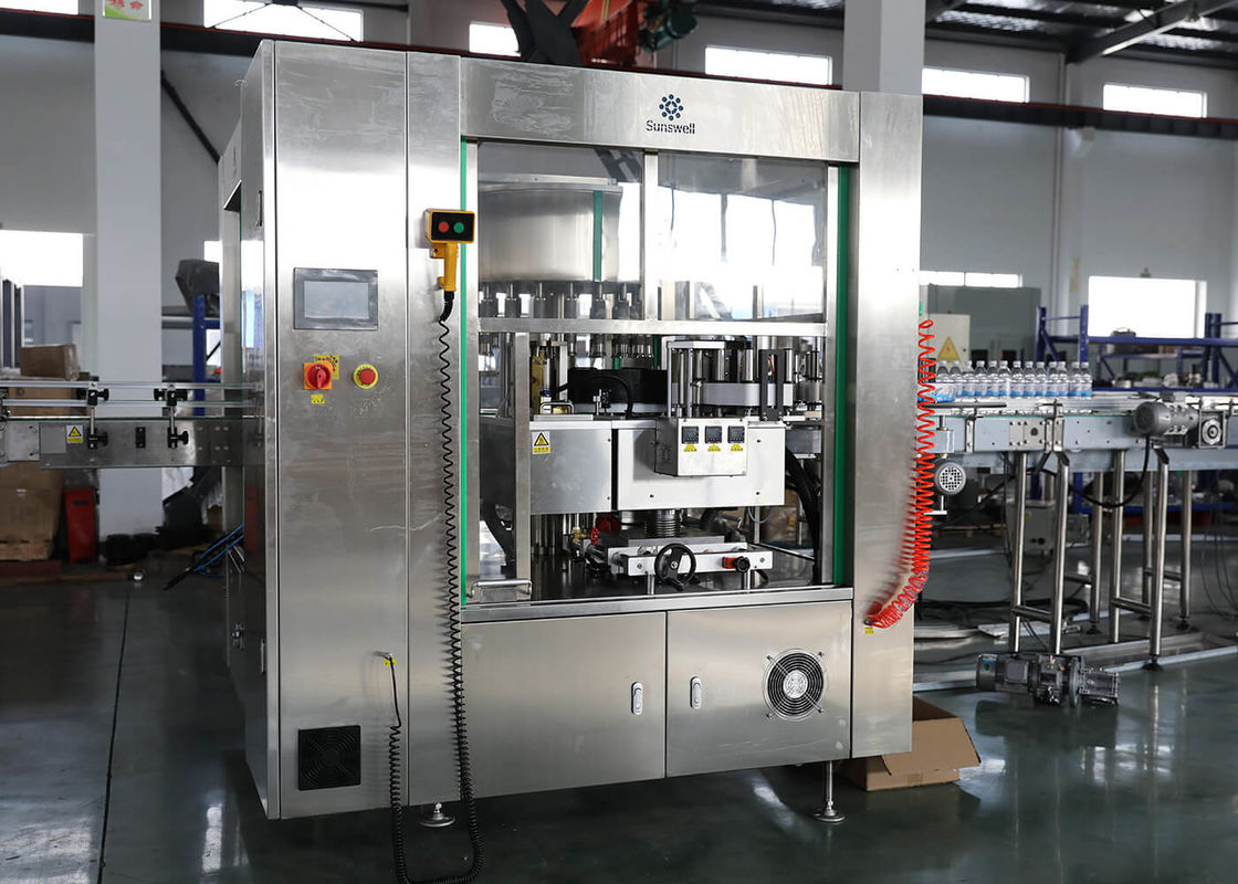 OPP Liquid Wine Bottle Labeling Machine Full Automatic Rotary Hot Melt Glue