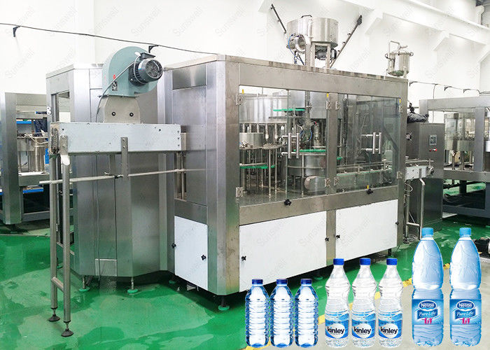 Washing Capping Automatic Water Filling Machine Electric Driven Type For Beverage