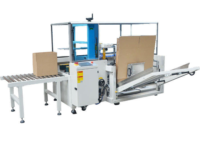 Completely Automatic Case Bottom Sealer Carton Unpacking Machine For PET Bottle Pop Can Use