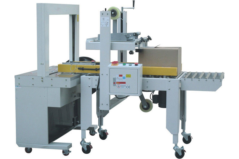 Long Life Automatic Carton Sealing And Strapping Machine Cartoning Machine