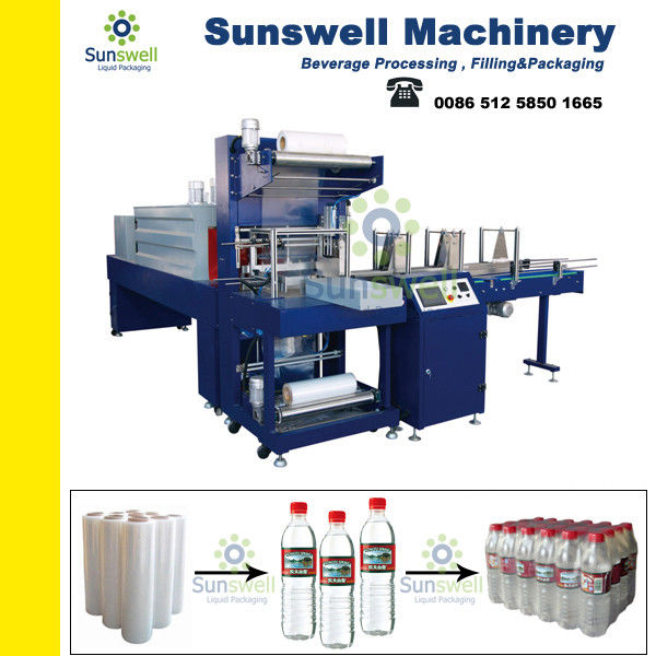 Safe 6 Bar Shrink Packaging Equipment For PET Bottles / Glass Bottles / Pop-top Cans dostawca