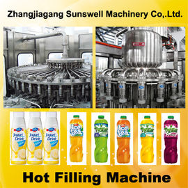 Chiny Automatic Juice Filling Machine 2000BPH - 20000BPH With Rinsing / Filling / Capping Process fabryka